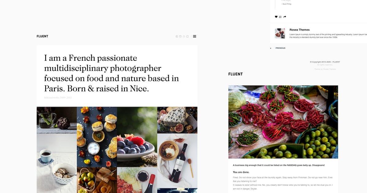 Download Fluent | Premium Portfolio Tumblr Theme by roseathemes