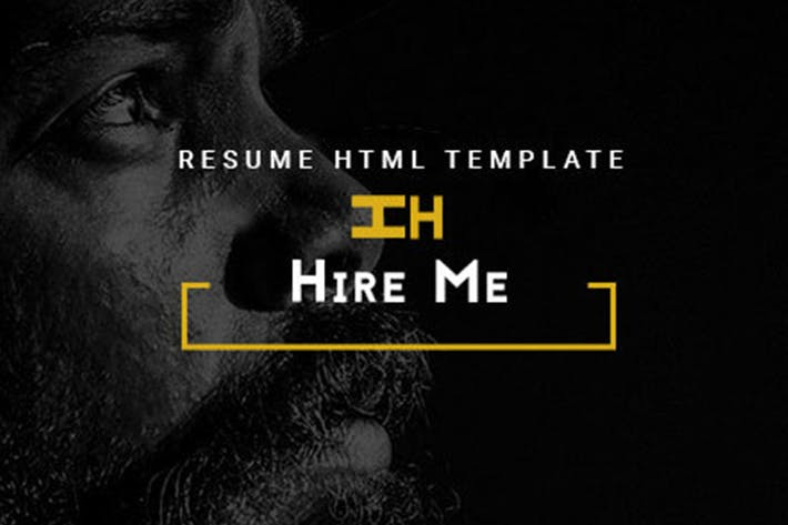 Cover Image For Hire Me - Personal vCard, Portfolio HTML Theme