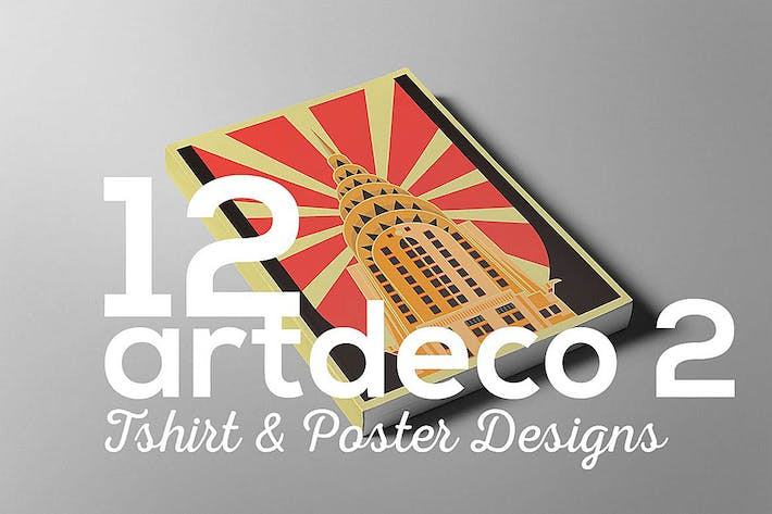 Thumbnail for ArtDeco Poster T-shirt Set 2
