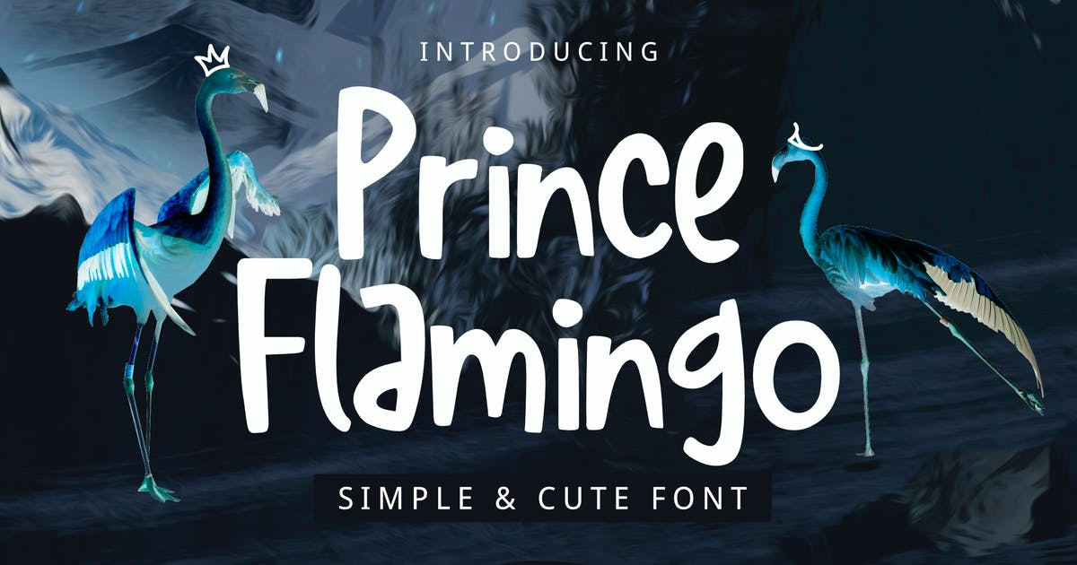 Prince Flamingo Font by yandidesigns