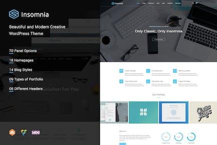 Insomnia - Hermosa y Moderno WordPress Creativo