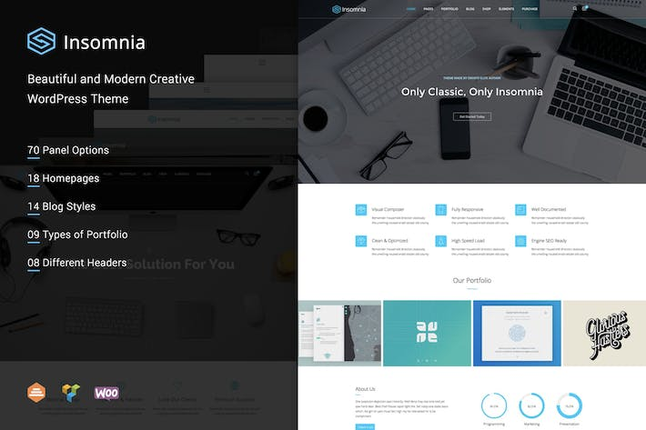 Insomnia - Beautiful and Modern Creative WordPress