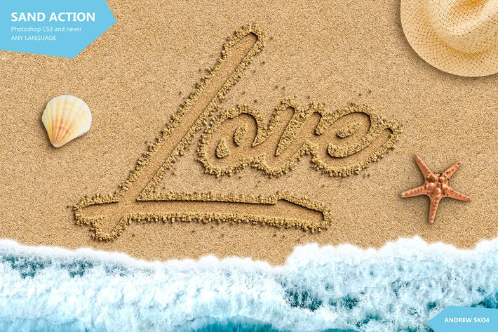 Sand Text Photoshop Action