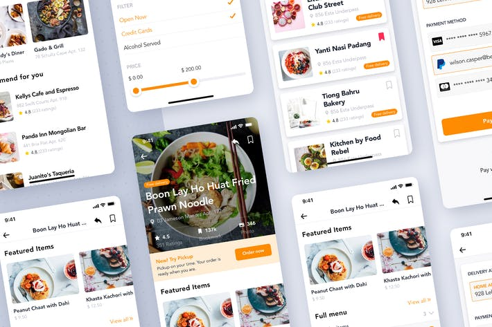 Thumbnail for Food Restaurant order app UI Kit