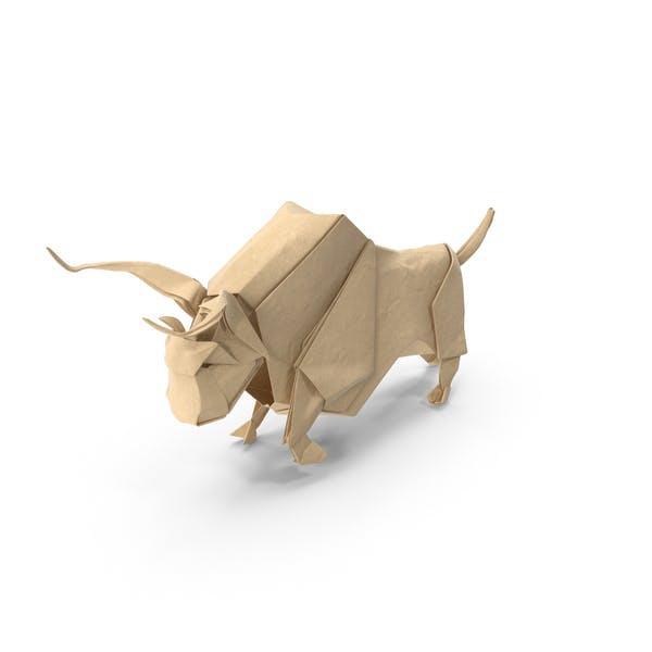 Bull Origami 3D-Modell - TurboSquid 1346255 | 600x600