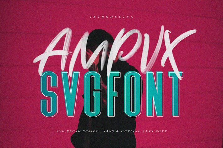 Thumbnail for AMPVX SVG Brush Font Free Sans