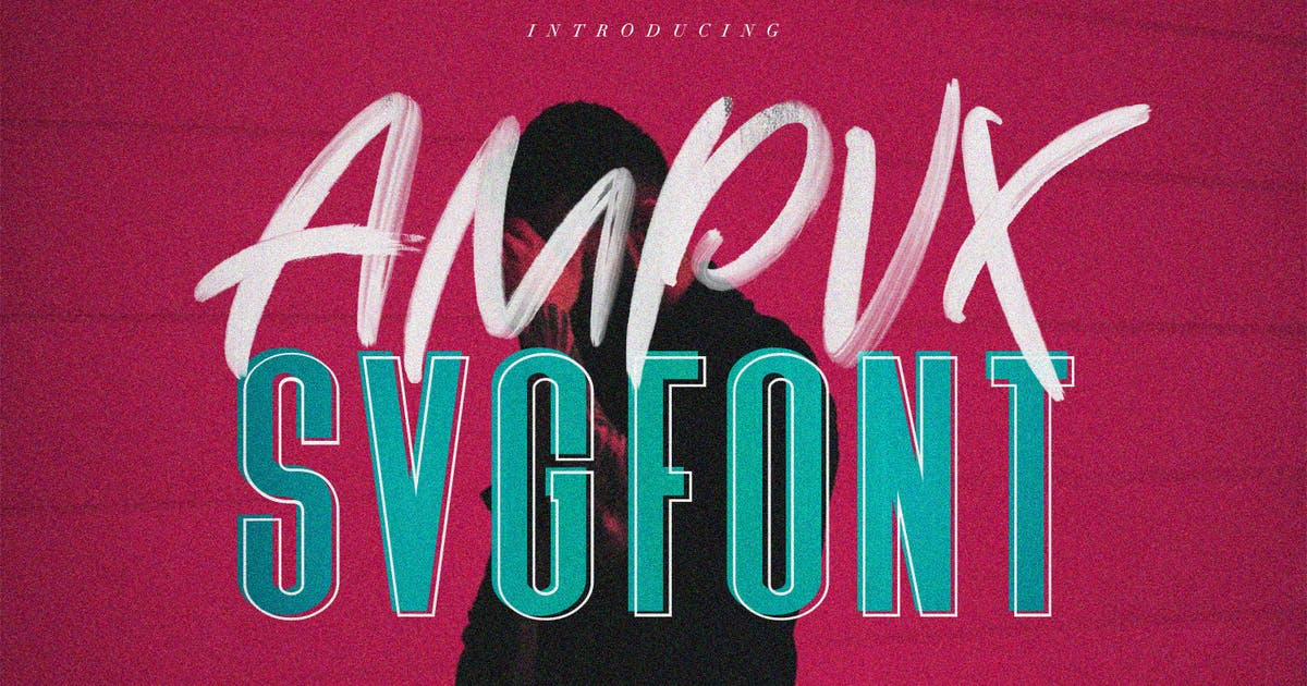 Download AMPVX SVG Brush Font Free Sans by maulanacreative