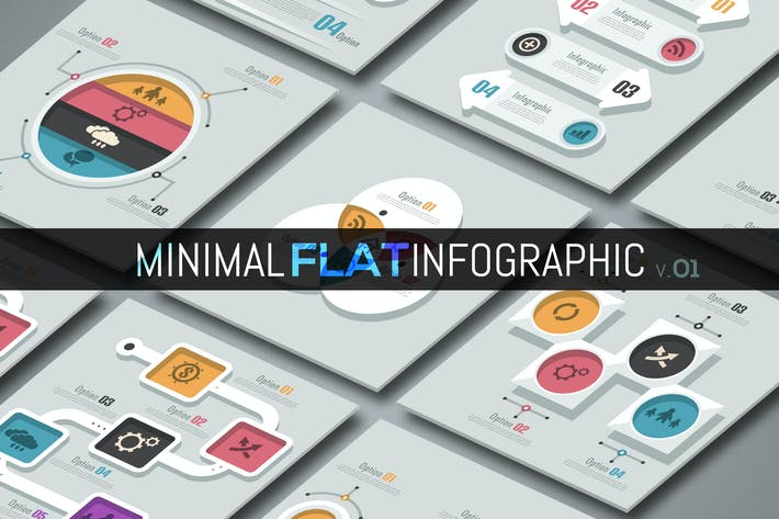Cover Image For Minimal Flat Infographics v.01