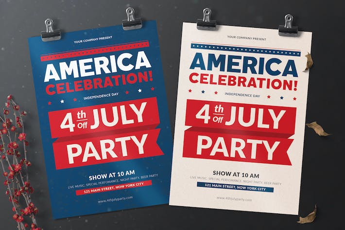 Thumbnail for America Celebration Flyer
