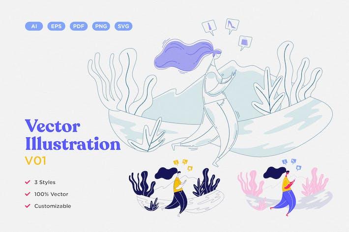 Thumbnail for Vektor illustration V01