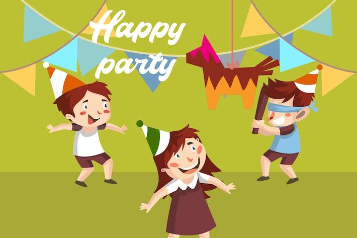 Glückliche Party - Illustration
