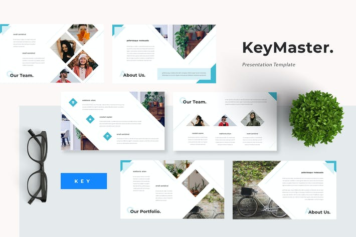 Thumbnail for Keymaster - Green Startup Keynote Template