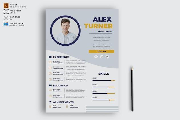 Elegant CV Resume Vol. 08