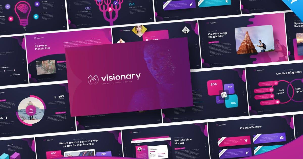 Download Visionary Keynote Presentation Template by BrandEarth