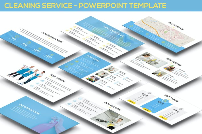 Cover Image For Cleaning Service - Powerpoint Template