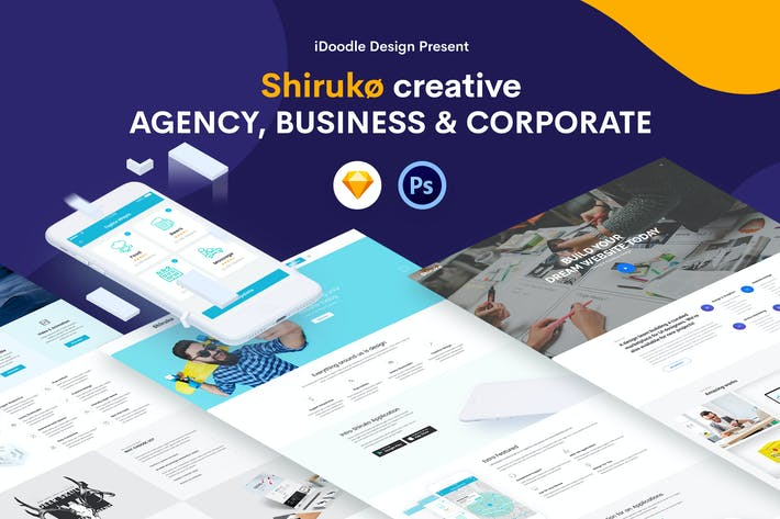Cover Image For Shiruko - Creative Agency, Business Template