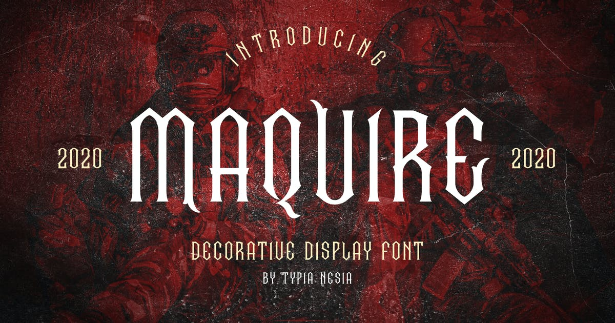 Download Maquire Decorative Font by yipianesia