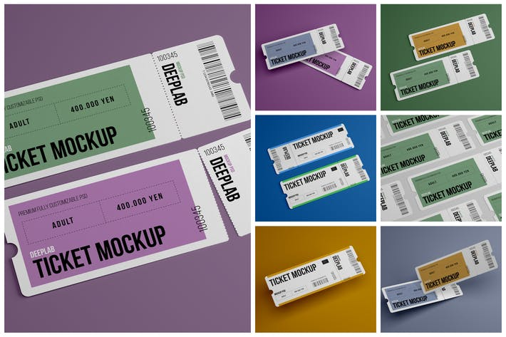 Thumbnail for Event Ticket Mockup Set