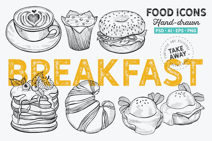 Thumbnail for Breakfast Hand-Drawn Graphic
