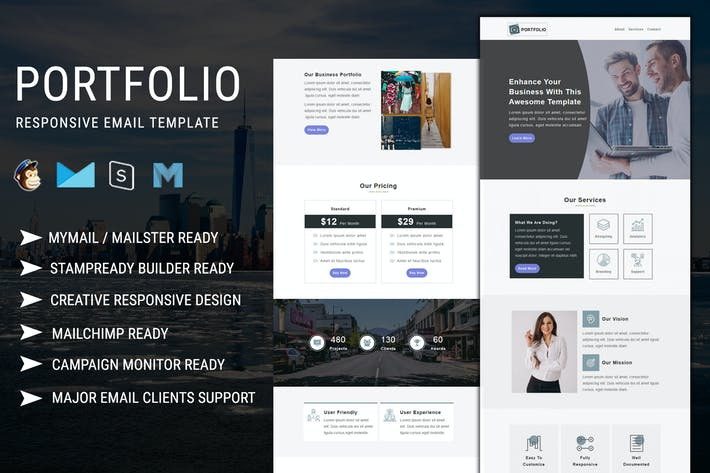 Thumbnail for Portfolio - Multipurpose Responsive Email Template