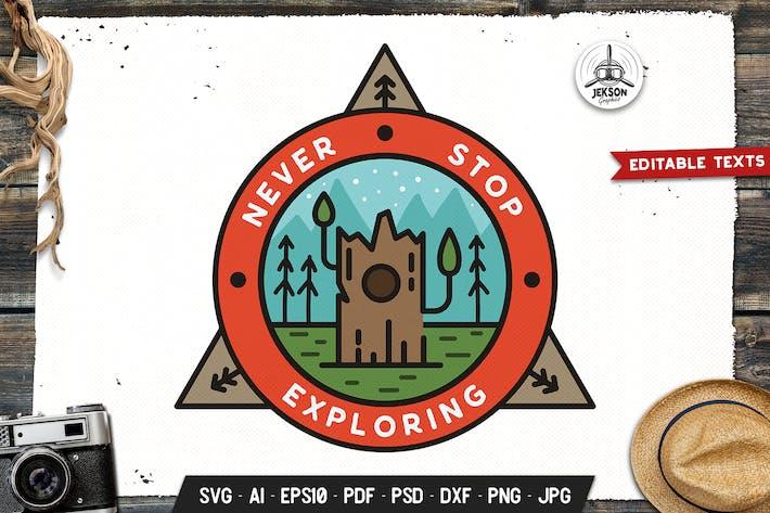 Thumbnail for Explore Emblem Modern Logo SVG. Travel Badge