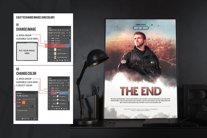 Cover Image For The End Movie Poster/Flyer