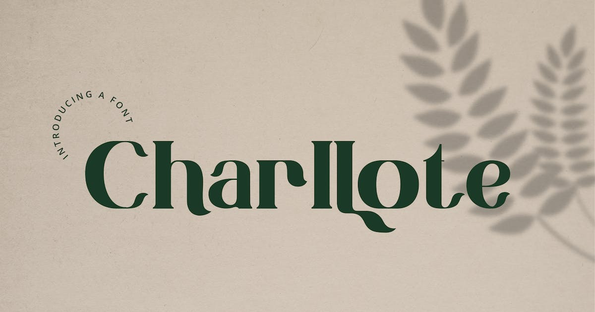 Download Charllote - Font by Blesstudio