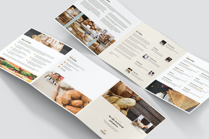 Thumbnail for Brochure – Bakery Tri-Fold Square