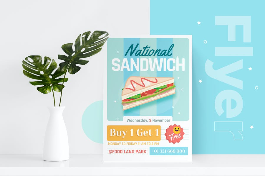 National Sandwich Day Flyer Template