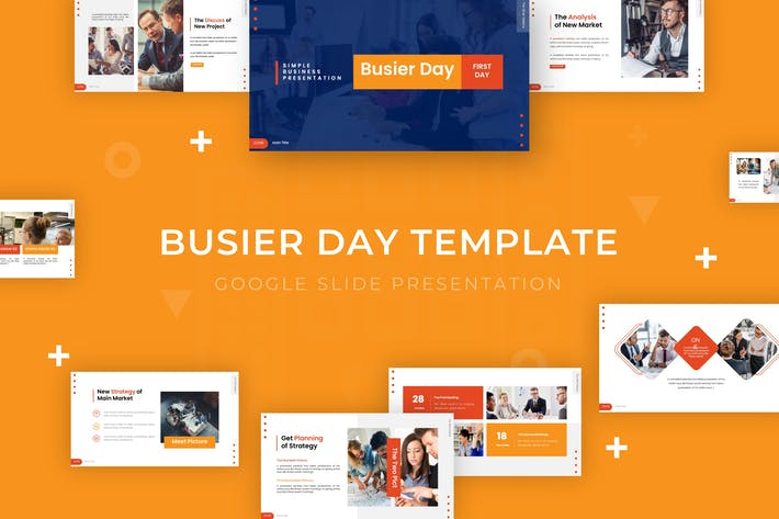 Thumbnail for Busier Day - Google Slide Template