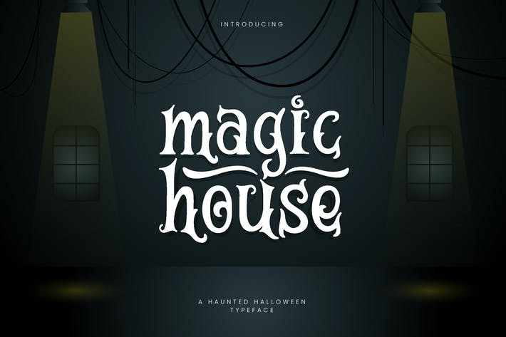 Magic House - Haunted Halloween Typeface