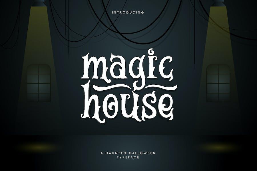 Magic House - Haunted Halloween Tipo de letra