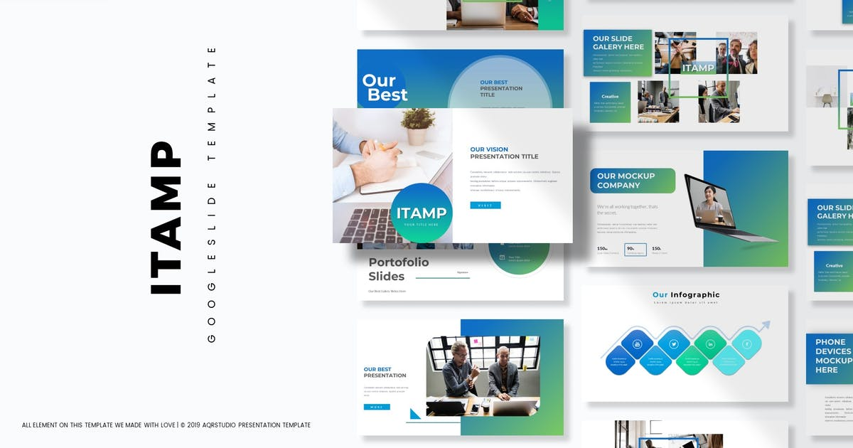 Download Itamp - Google Slide Template by aqrstudio