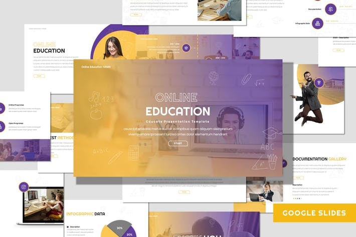 Thumbnail for Online Education - Google Slides Template
