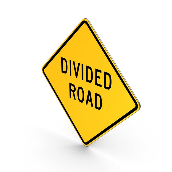 Thumbnail for Divided Road Sign