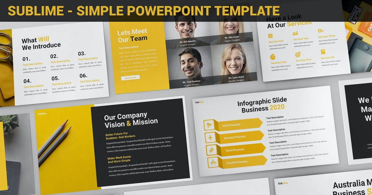 Download Sublime - Simple Powerpoint Template by SlideFactory
