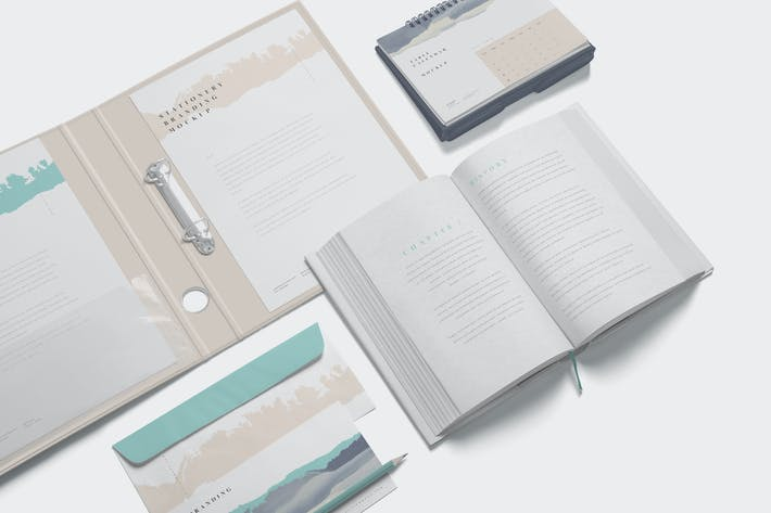 Thumbnail for Stationery Branding Mockup Scenes
