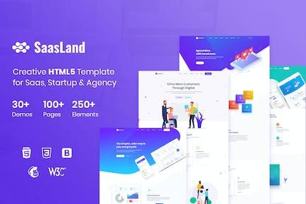SaasLand - Mehrzweck-HTML5-Vorlage