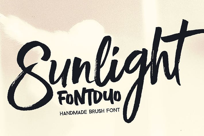 Thumbnail for Sunlight - Brush Font Duo