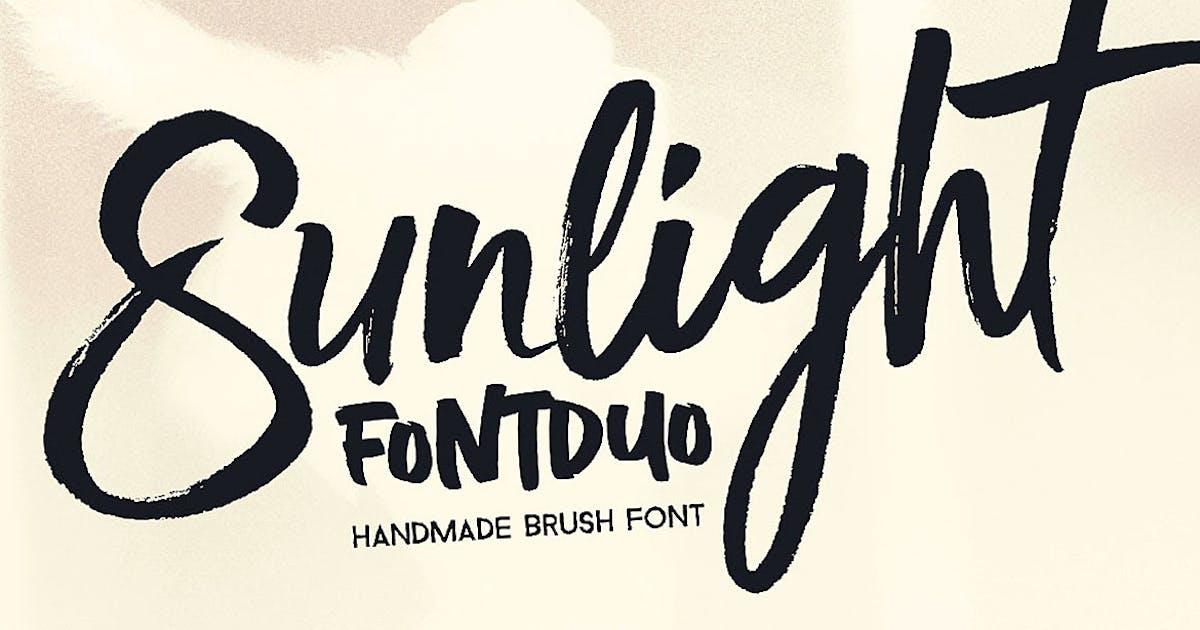 Download Sunlight - Brush Font Duo by cruzine