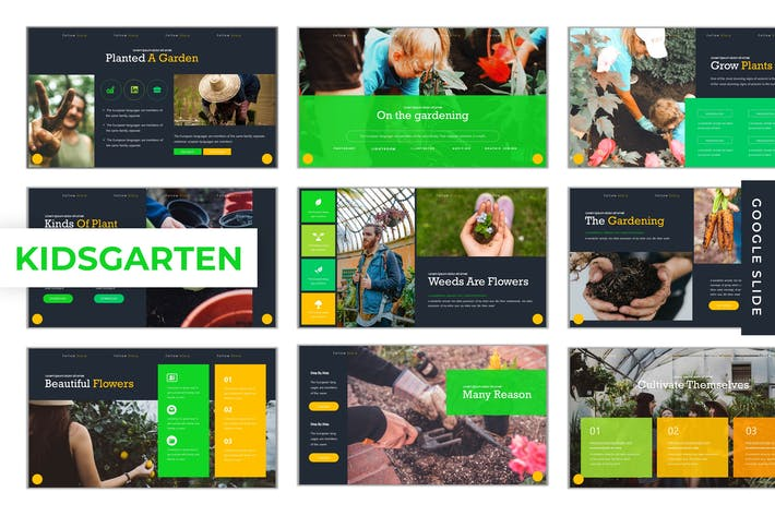 Thumbnail for KidsGarten  - Google Slides Template