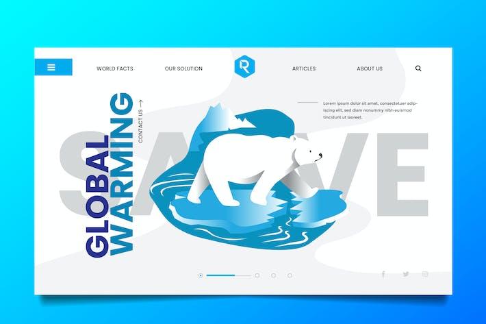 Thumbnail for Global Warming Web Header PSD & Vector Temp Vol.02