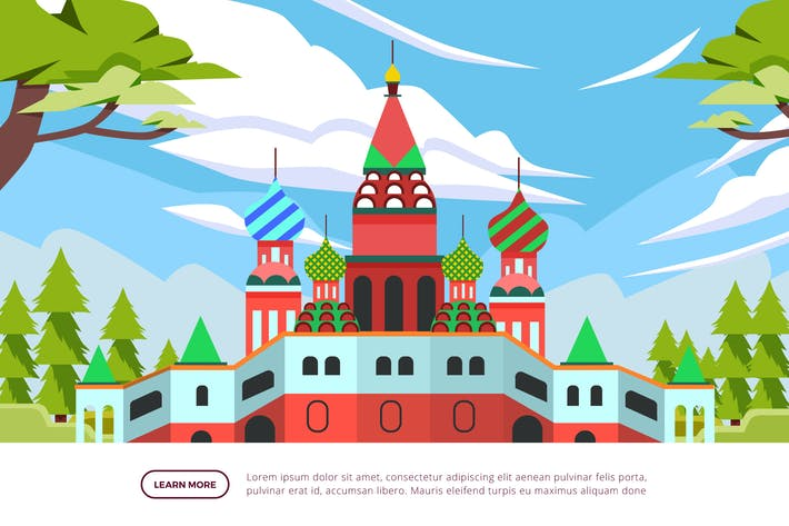 Thumbnail for Basil's Cathedral - Famous Landmark Illustration