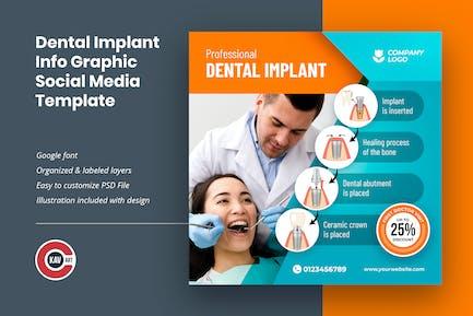Dental Implant Info Graphic Social Media Template