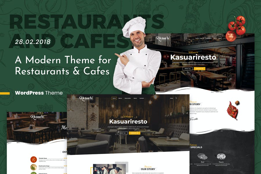 Kasuari | Restaurants and Cafes WordPress Theme