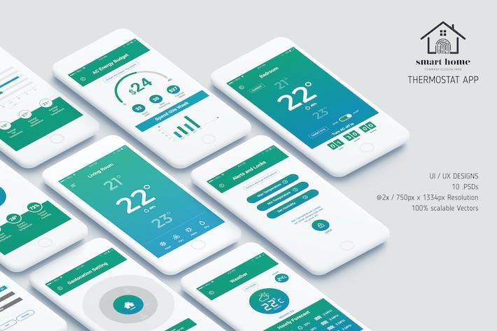 Thumbnail for Thermostat App UI Kit