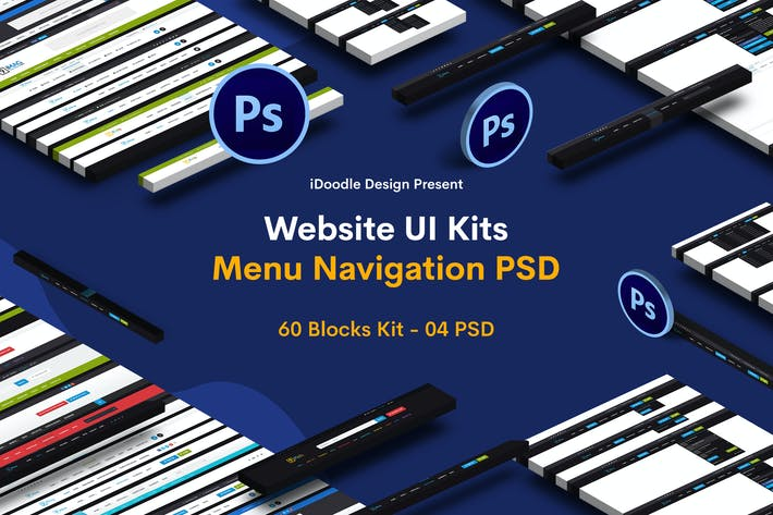 Thumbnail for Website Menu Navigation UI Kits