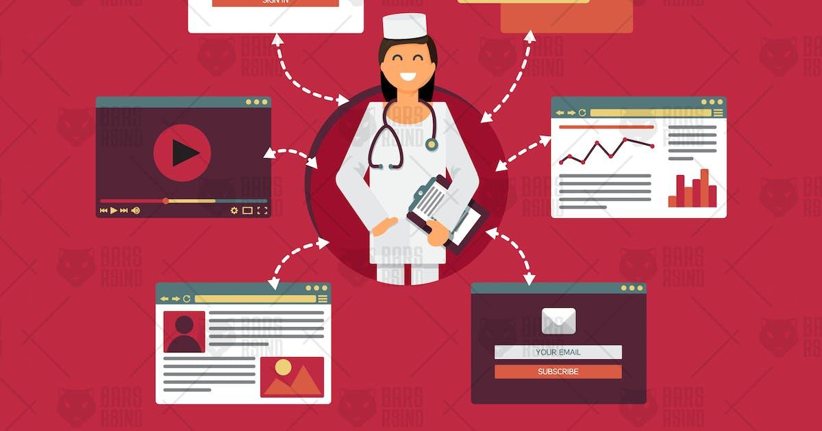 Download Online Medicine Concept by barsrsind