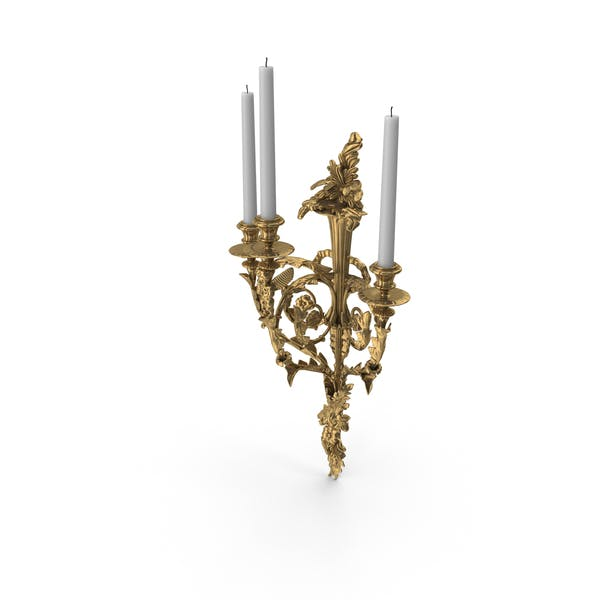 Thumbnail for Victorian Baroque Candle Wall Sconce