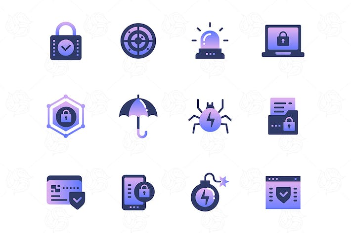 Thumbnail for Information security - set of icons